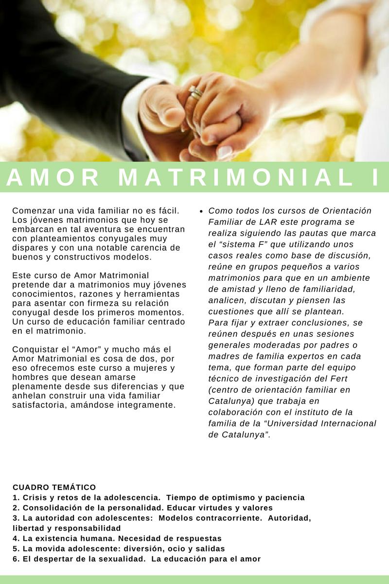 Amor matrimonial 1